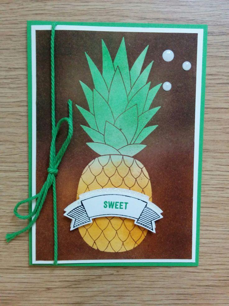 Ananas met Josephs Coat - Het Knutsellab - Stampin Up #stampinup #crafts #knutselen #stempelen
