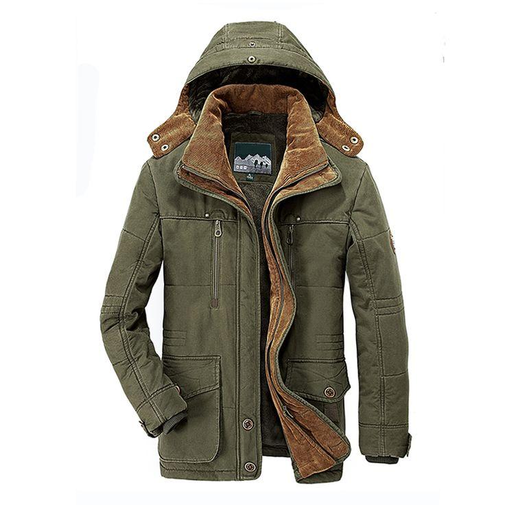 >> Click to Buy << 2017 Mens winter pocket Warm Hat Parkas brand military Thick brown coat jaqueta masculina acolchoada chaqueta invierno hombre #Affiliate