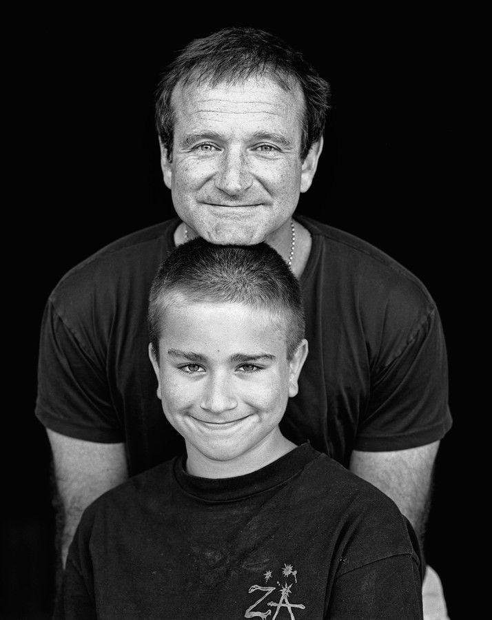 Робин  Уильямс  с  сыном  Заком.
