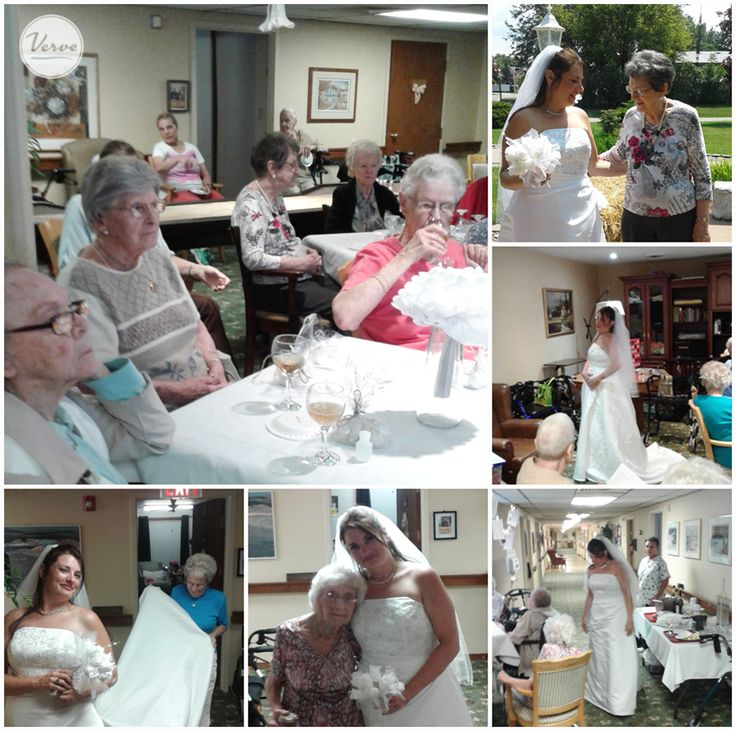 "Hudson Manor Resident's loved being part of a staff members special day by participating in ""Say yes to the dress"" they chose what dress Janice would wear on her wedding day. 👰💜"
