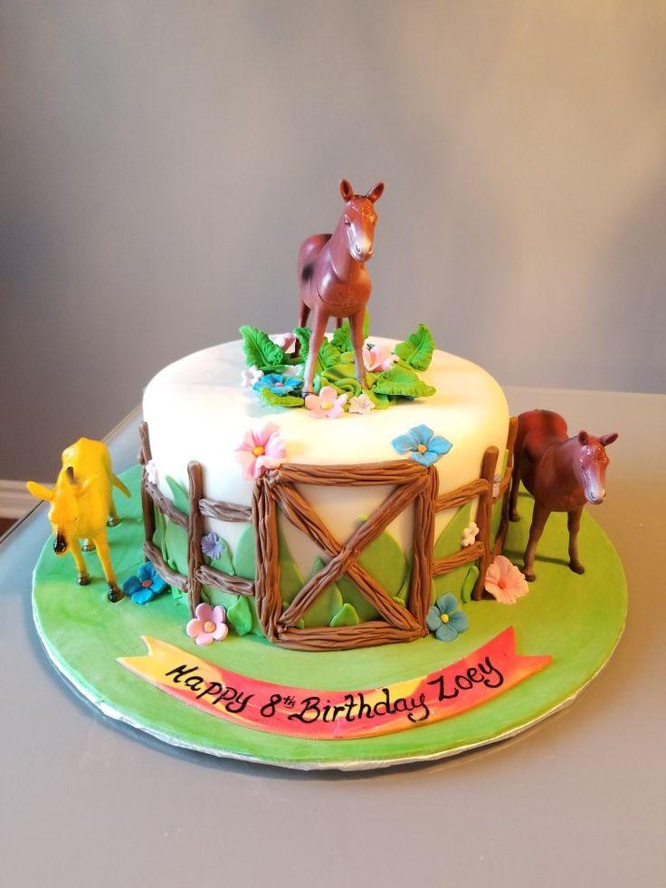 Love for Horses Birthday Cake