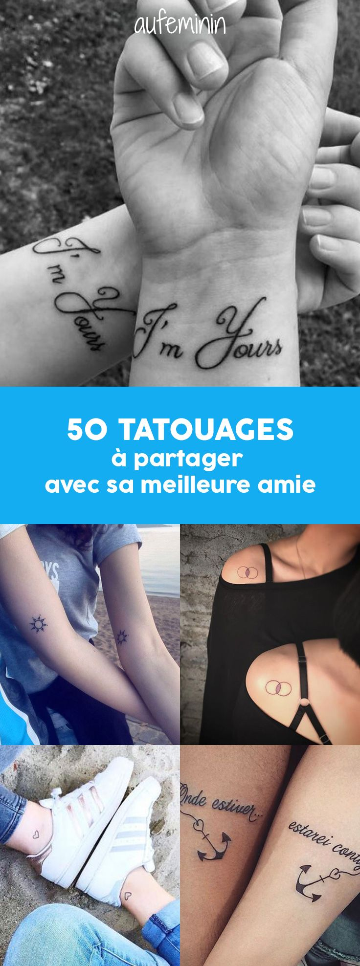 Envie d'un tattoo à partager avec sa meilleure copine ? Découvrez notre sélection de tatouages de l'amitié, de jolis motifs pour graver votre complicité.