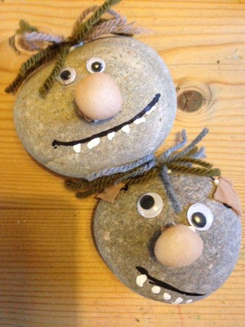 Elfjes en trollen: stenen trollen  knutselen (Trollen veranderen in stenen als de zon op ze schijnt)