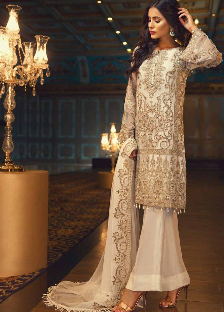 5ab584644e Baroque Jazmin Embroidered Chiffon 3 Piece Suit - We Ship Worldwide ...