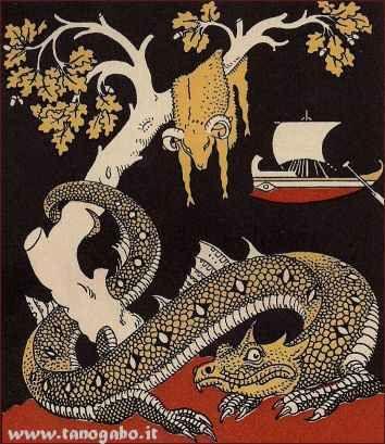 Mitologia - Giasone, gli Argonauti ed il vello d'oro Il Vello d'oro?... Tu potrai prendertelo, Giasone, purchè tu valga ad aggiogare i miei due tori dai piedi di bronzo e dal soffio di fiamma, dono di Vulcano (Efesto), e poi con essi tu ari un campo e  #giasone #anfione #argonauti #arte