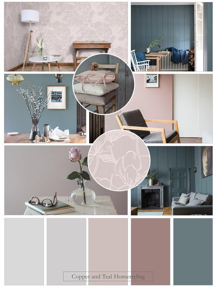 De Nimes Sulking Room Pink Two Colour Combination For Living Room Living Room Living Room Color Schemes Blue Living Room Color Living Room Decor Colors