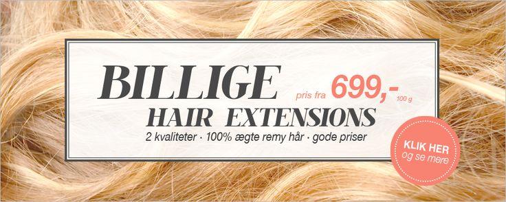 Billige Hair Extensions - Danmarks største udvalg af hair extensions kan ses hos Myextensions.dk