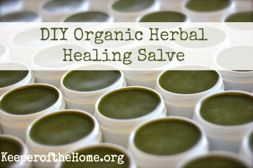 DIY organic herbal healing salve- easy to make, safe for the whole family!