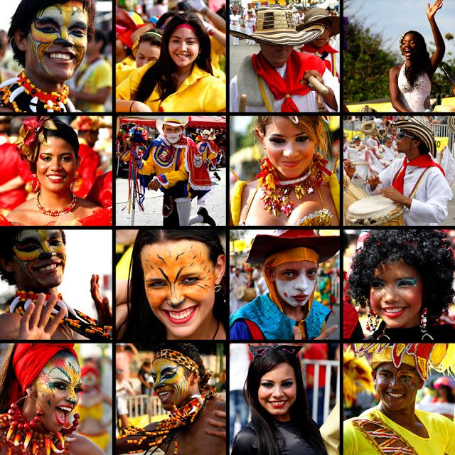 The beautiful faces of the Barranquilla Carnival at Barranquilla Colombia. Feb 2013