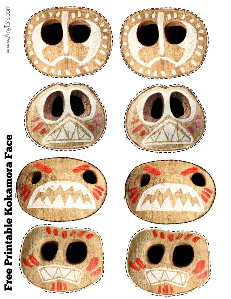 Free Printable Moana Kokamora Face