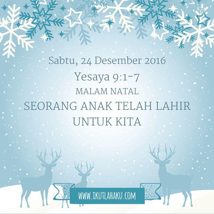 Renungan Hari Sabtu 24 Desember 2016
