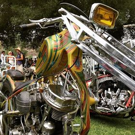 Showcasing the garage builder of hand built Real Choppers