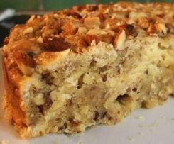 Gâteau pommes/cannelle et noix (ou noisettes)