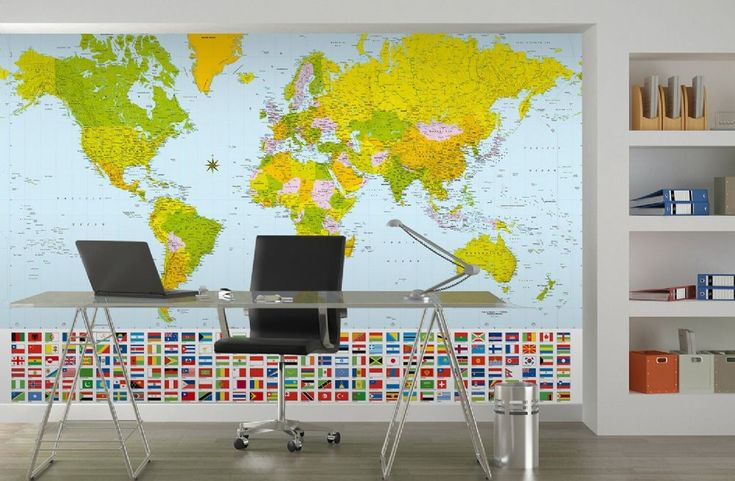12 best map wallpapers for home interior walls images on pinterest map of the world wall mural wallpapers gumiabroncs Image collections