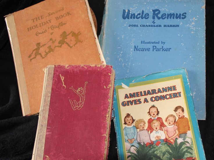 My mother gave me 'Peter Pan' for Christmas in 1953 when I was six. The following Christmas I received the 'Second Holiday Book' by Enid Blyton. I was an avid reader, and had borrowed my first Beatrix Potter book from the library when I was younger. I look for vintage children's books at book fairs, and bought 'Ameliaranne' when I was in my late teens. 'The Uncle Remus' stories were also favourites of mine as a child, and I recently purchased this copy from a book fair in Canberra…