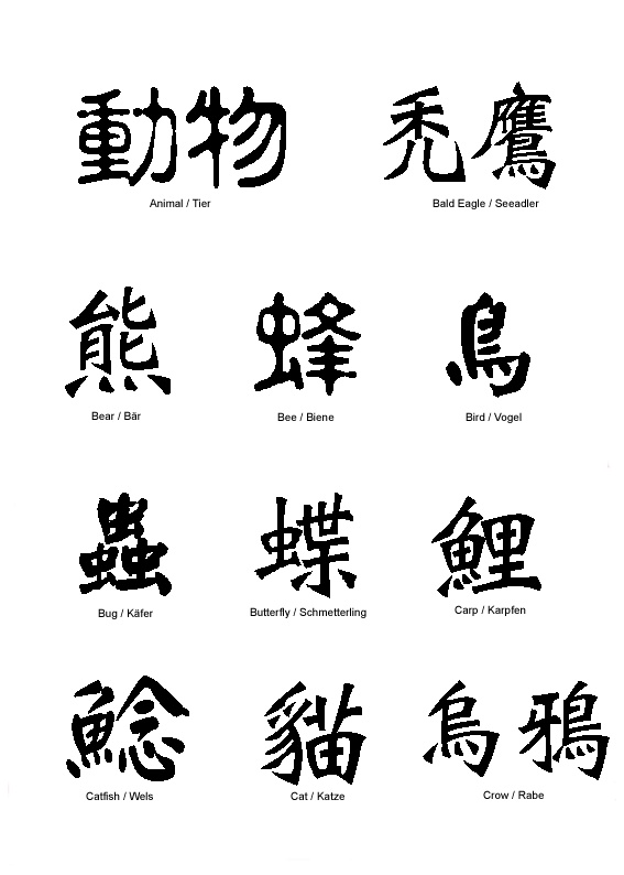 15 best Chinese tattoo symbols images on Pinterest