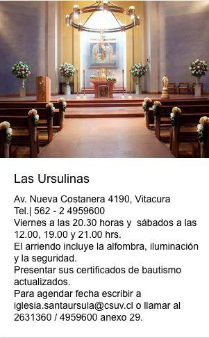 Iglesia Las Urzulinas  Nueva Costanera 4190 Vitacura