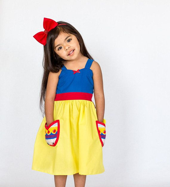 c7eb25eba0a28 SNOW WHITE dress, Snow White costume, girls princess dress ...