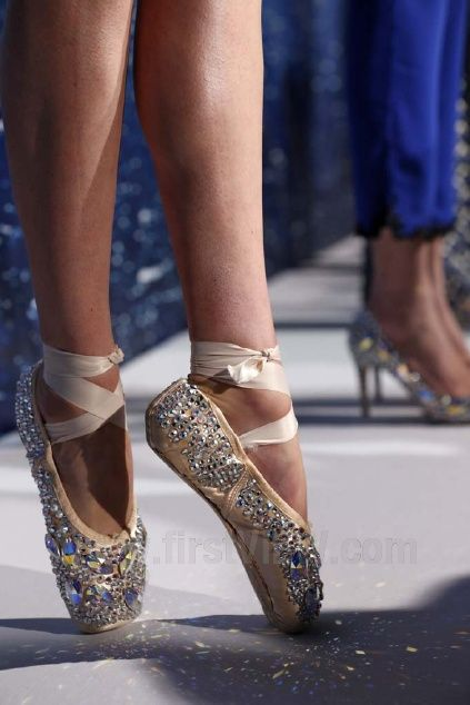 I'm gonna bedazzle some old Pointe shoes