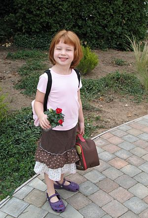 """""""It's that time of year again – back to school! Here is a post from a few years ago when Natalie was heading off to Kindergarten."""""""