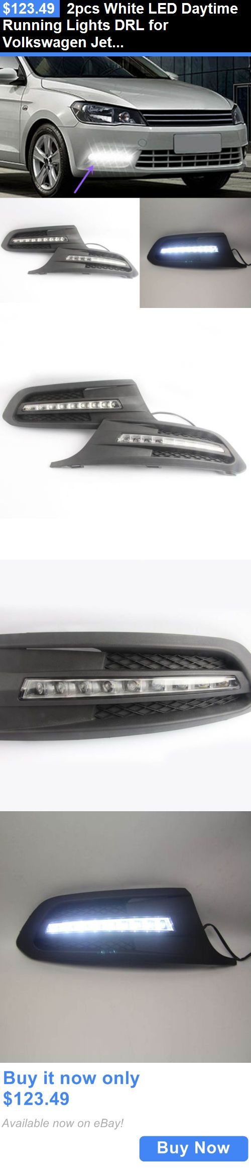Motors parts and accessories 2pcs white led daytime running lights drl for volkswagen jetta 2011