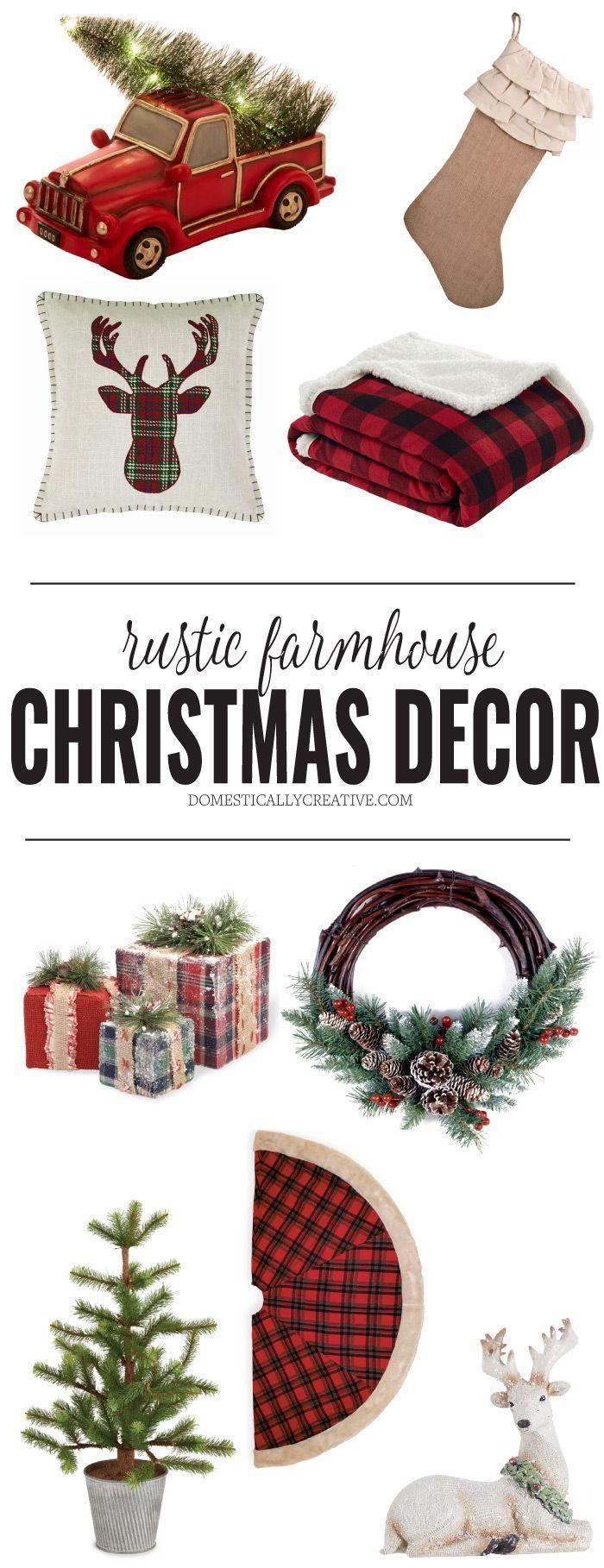 Rustic Farmhouse style Christmas decor