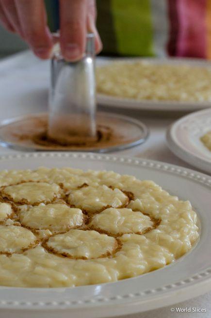 Cinnamon and Portuguese rice pudding