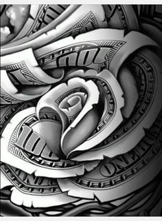 money roses tattoo designs - Google Search
