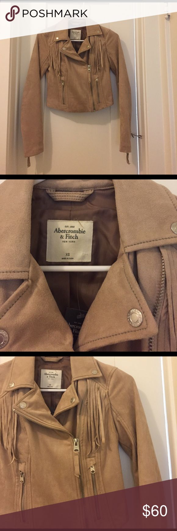 Abercrombie and Fitch suede jacket with fringe So cute! Brand new with tags!! Original price 148 Abercrombie & Fitch Jackets & Coats