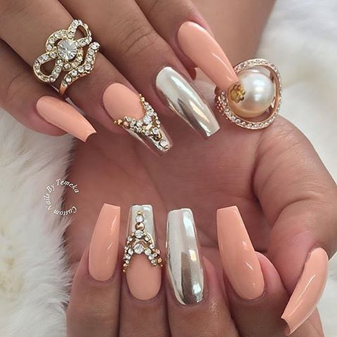 Simply Gorgeous  ✨ Credit : @customtnails1 simply elegant✨