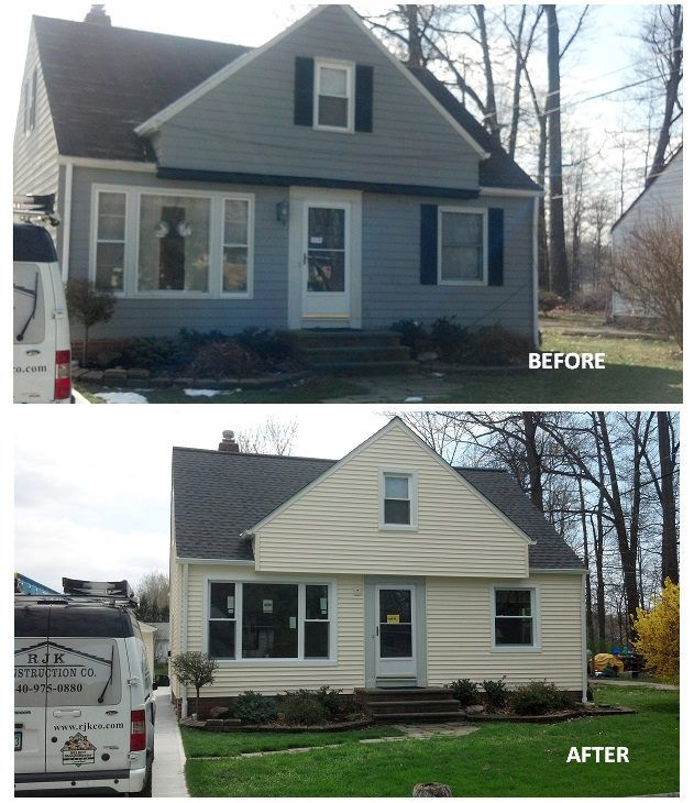 Red Brick House With Shutters Before And After
