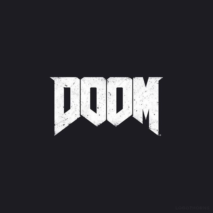 One of the most recognizable game logos. Doom. Original Doom logo was illustrated by Don Ivan Punchatz. #doom #logo #branding #logothorns by logothorns
