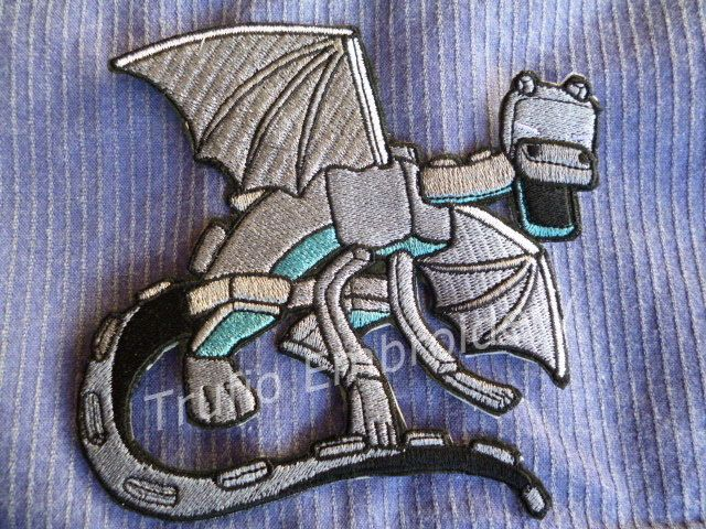 Dragon - Minecraft inspired - iron-on patch/badge by Trufio on Etsy