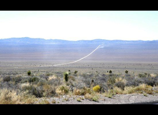 The road leading to Area 51