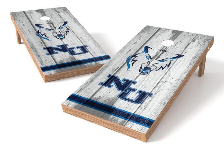 Northwood University Timiberwolves Cornhole Board Set - Vintage (w/Bluetooth Speakers)
