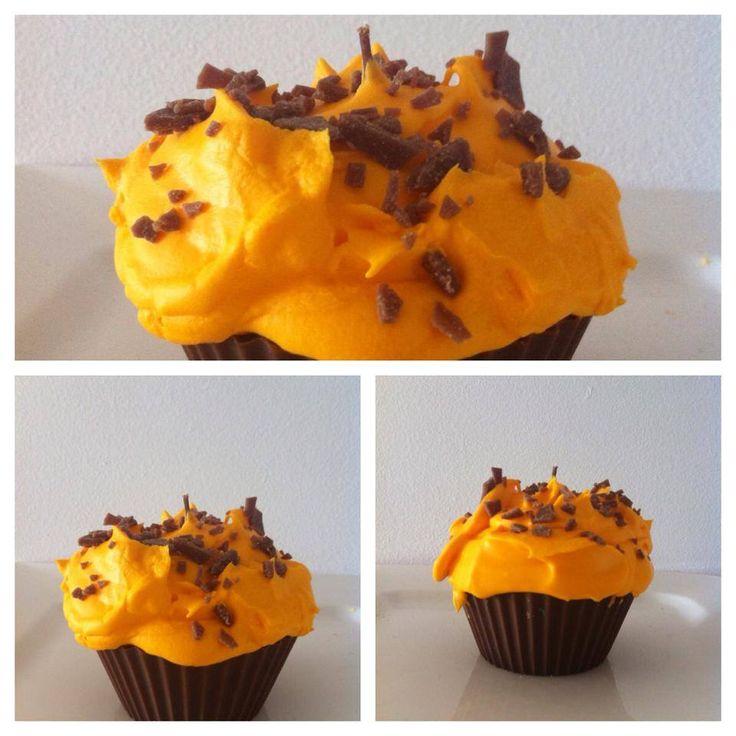 Chocolate Orange cupcake candle