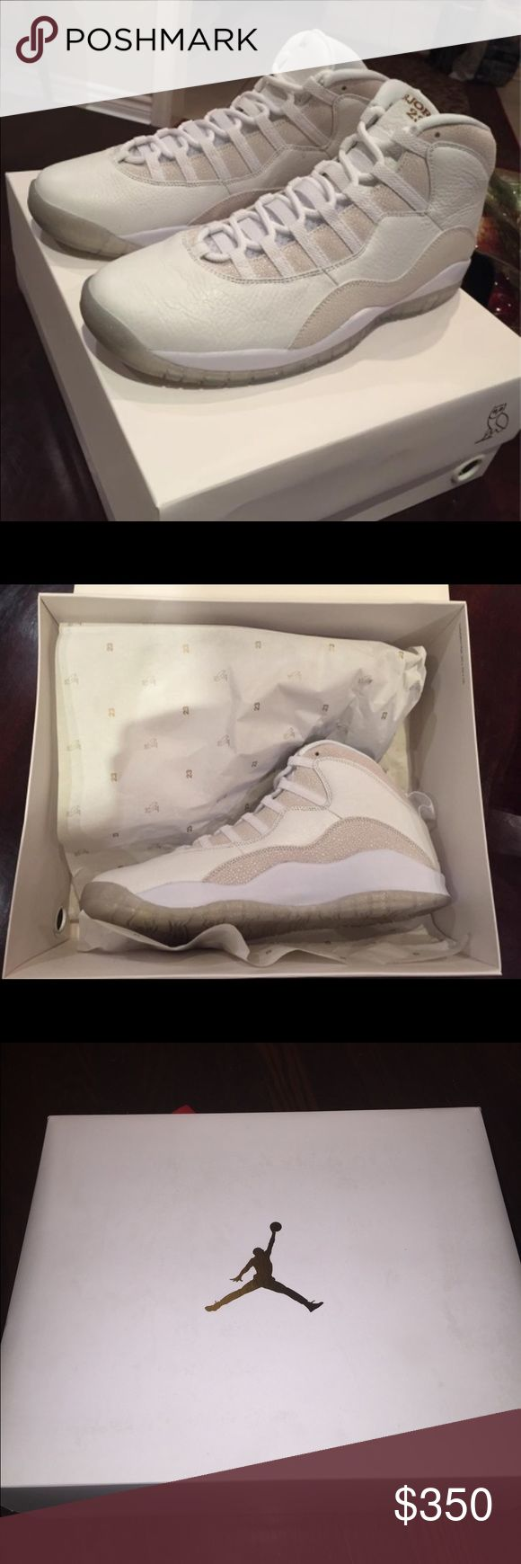 Air Jordan 10 OVO With RECEIPT Comes With Receipt Brand New Payment Through Western Union Only My 🅿️🅿️ is holding Paymnets Comment Your Number If You Want To Buy ‼️ Shipping is free Price negotiable Jordan Shoes Sneakers