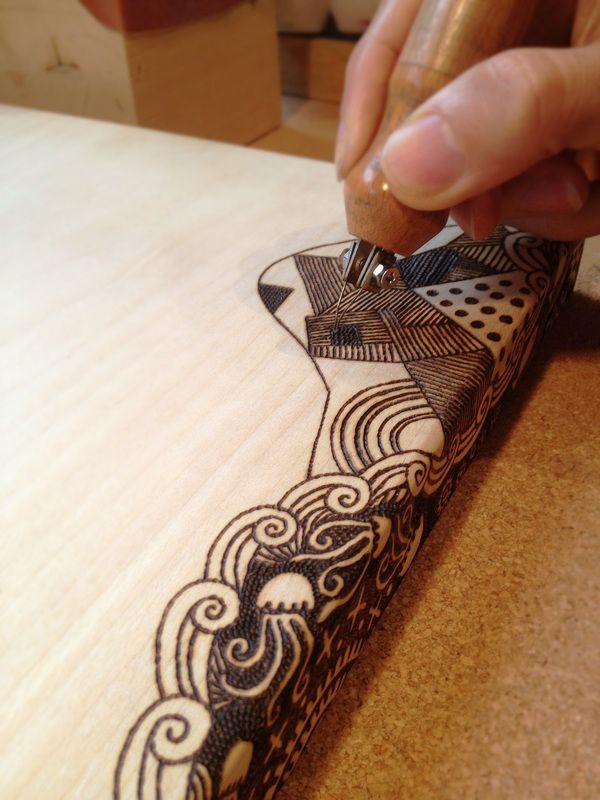 Tomot Woodburning Works By Tomomichi Suzuki Via Behance