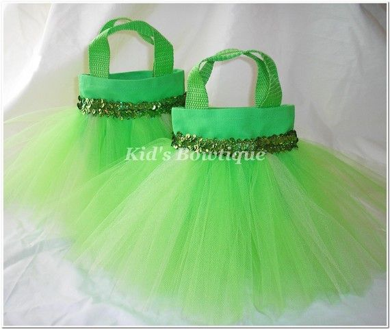 Set of 8 Princesses Party Favor Tutu Bags by kidsbowtique on Etsy