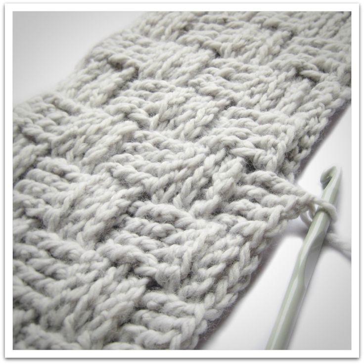 Basket weave crochet