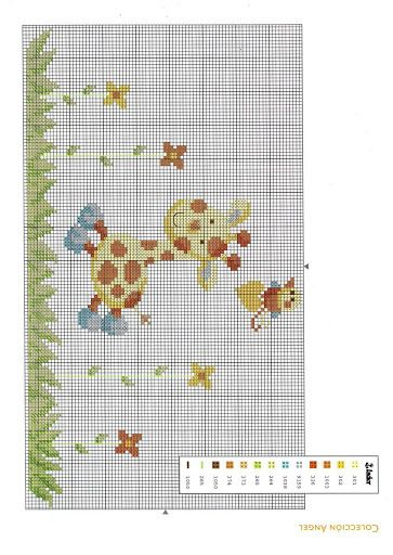 6 giraffe cross stitch