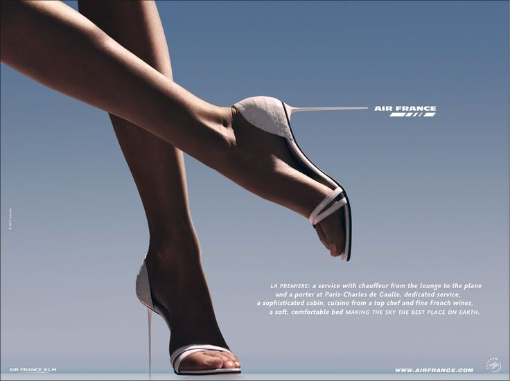 Air France Stilettos print advertisement