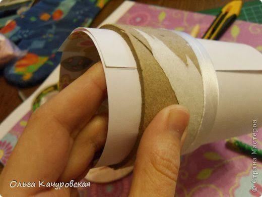Reutilização de rolos de fita adesiva fazendo porta joias | Revista Artesanato