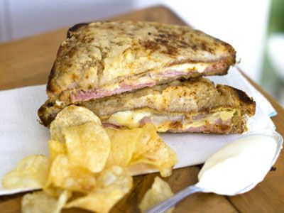 Use crème fraiche to make a croque monsieur. (My FAVORITE MEAL IN PARIS. Lame? I don't care.)