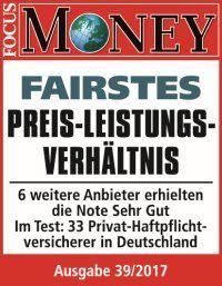 Die wgv ist Preis-Leistungs-Sieger Focus Money, Ausgabe 39/2017