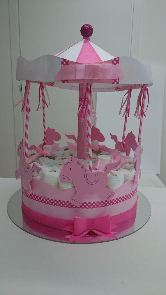 Torta di pannolini _ Idea Regalo Nascita neonato by PitturoSaCrea