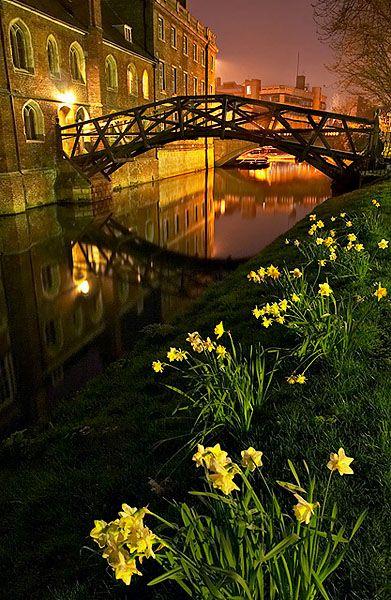 Mathematical Bridge within Queens' College at Cambridge University in England