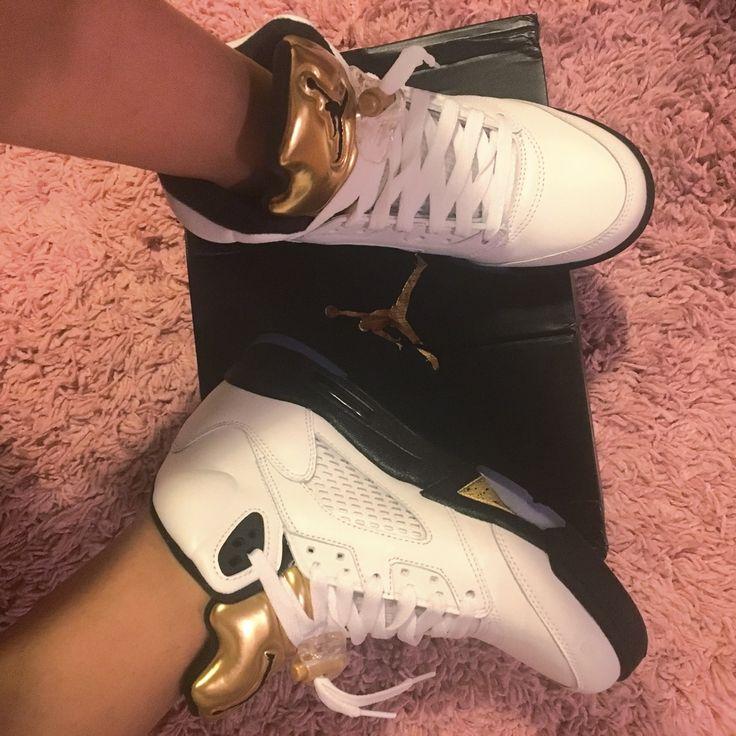 Air Jordan 5 Retro Olimpic Gold ❤️ women j's
