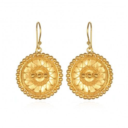 Satya Access to Infinity Gold Mandala Earrings at aquaruby.com