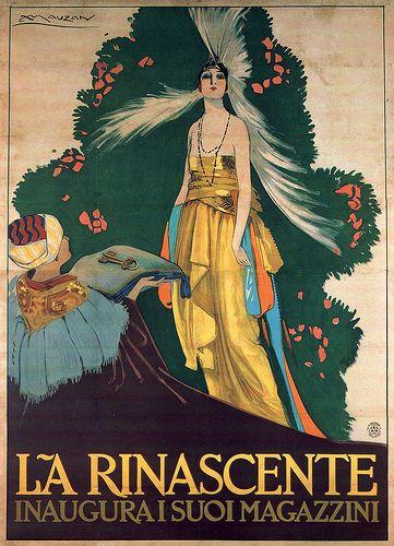 Achille Luciano Mauzan per La Rinascente, 1917